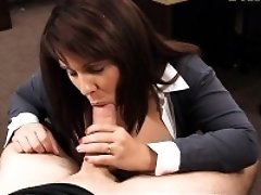 Hot and big boobs MILF fucked to bail out her husband