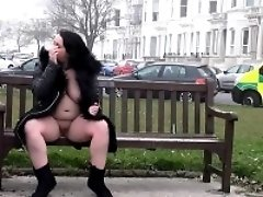 Naughty milf Sarah Janes public flashing and outdoor