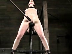 Glam bdsm milf flogged while restrained