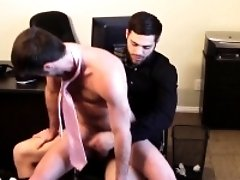 Office boss rides assistants thick cock